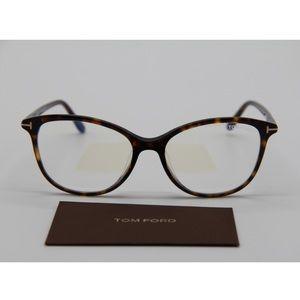 NEW TOM FORD TF5576-F-B 052 Havana Eyeglasses